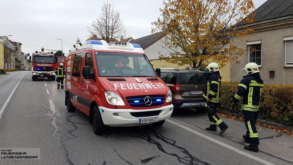 Einsatzfoto Verkehrsunfall Bundesstraße B3