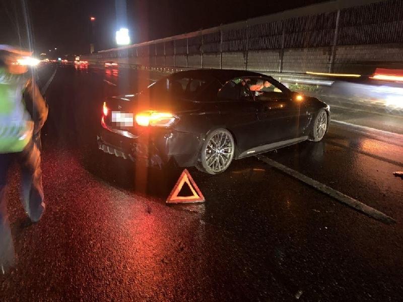 Einsatzfoto erneuter Verkehrsunfall A22