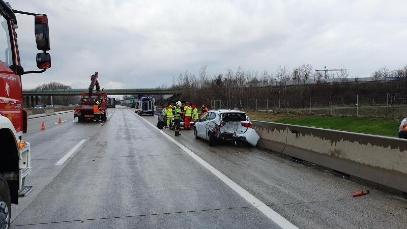 Einsatzfoto A22 -Verkehrsunfall mit mehreren PKW
